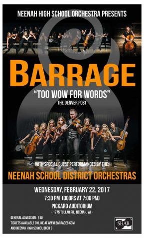 Orchestra Students Playing with Barrage