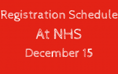 Thursday's Registration Schedule Change