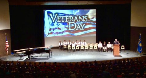 Former NHS Student Inspires at Veteran's Day Ceremony