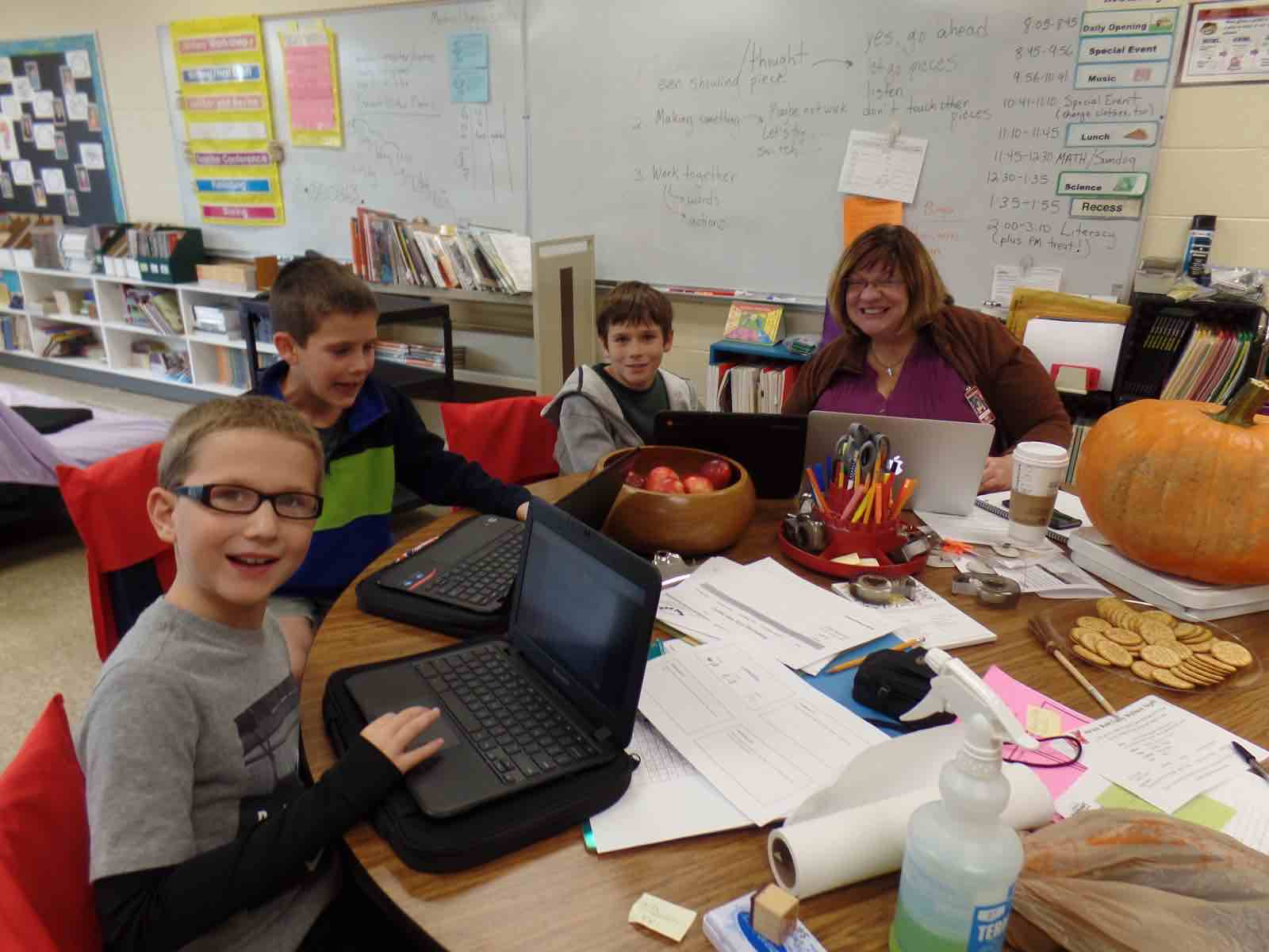 Ms. Val Cleveland, a gifted and talented teacher, works with N.J.S.D. students.
