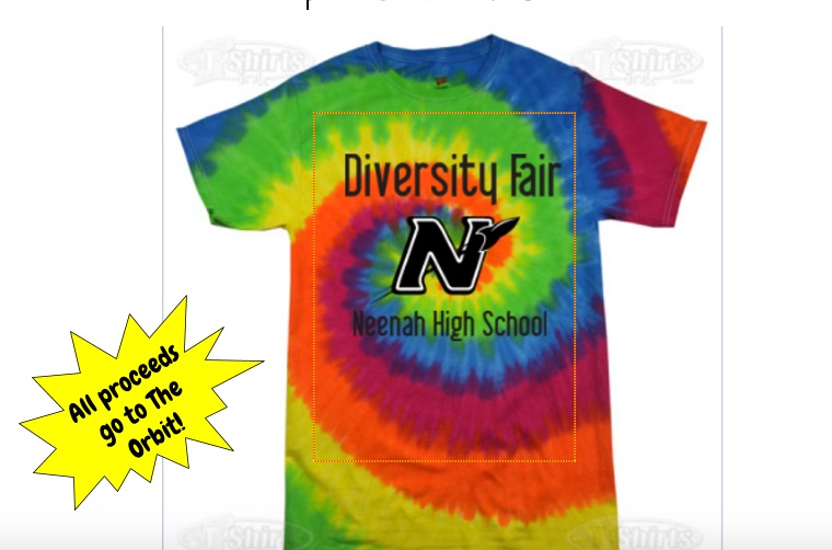 Diversity Fair t-shirts ($10) are for sale before or after school or room 134 with proceeds going to the Orbit.