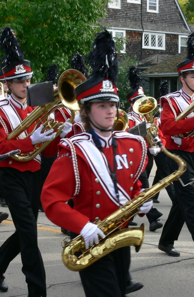 Kylie Vande Berg is involved in many extracurricular activities including the marching band.