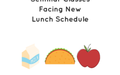 New Lunch Schedule Prepared for Freshman Seminars