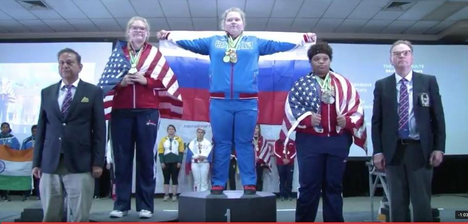 Danielle Eaglin, Senior, placed Second at the International Powerlifting Championship