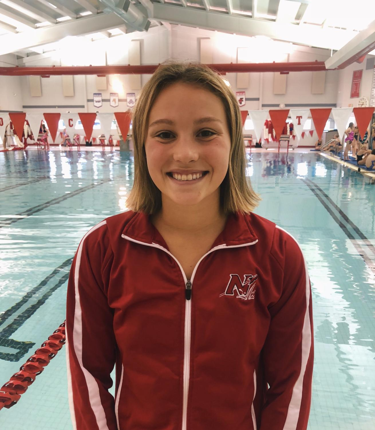 Currently a junior on the swim team, Claire Eisele wants to continue the momentum of the last season.
