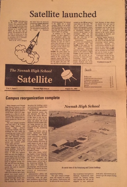 Originally a printed paper, the Satellite has covered a wide variety of articles, columns, cartoons and more since it was introduced