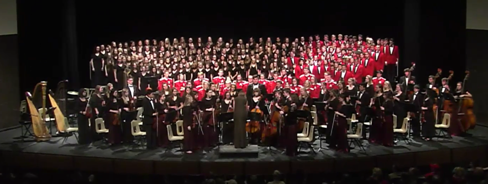 Snapshot of the combined performance in Holiday Concert.