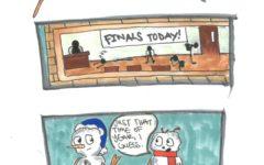 Comic Strip:  Meltdown During Finals