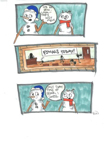 Comic Strip:  Meltdown During Finals