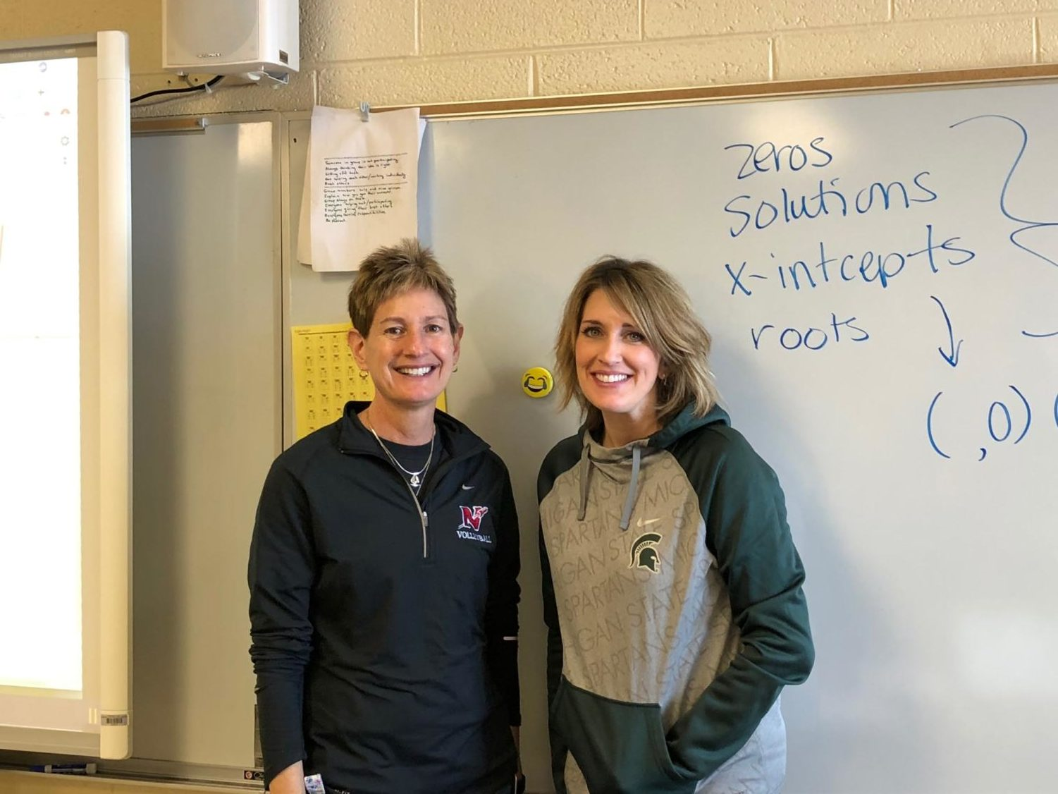Since the 2012-'13 school year, Hermans (left) and Gasparick (right) have seen improvement with their dual-teaching style.