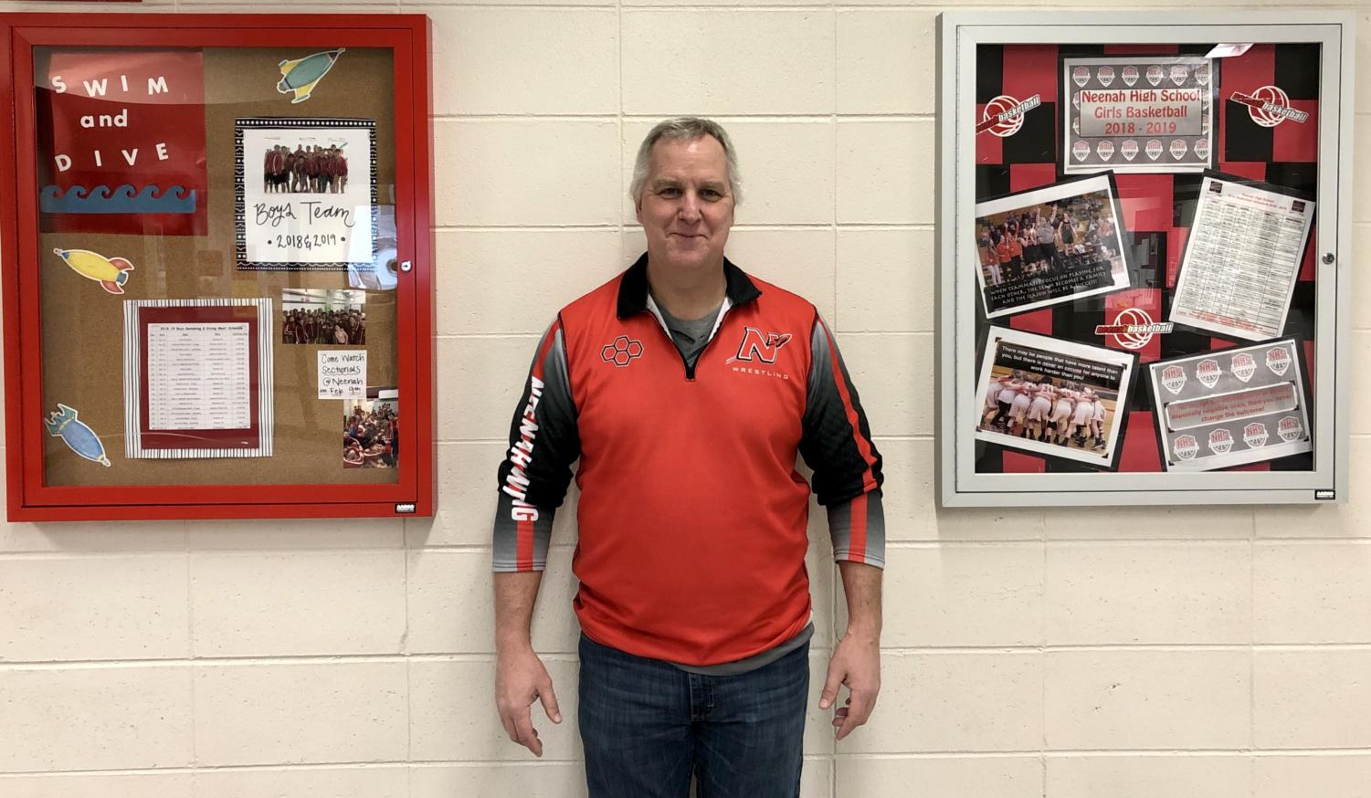 Social studies teacher Mr. Chris Rundquist was motivated to launch the shadow box project. It is inspired by other schools in the Fox Valley to demonstrate the diversity of extracurricular offerings at NHS.