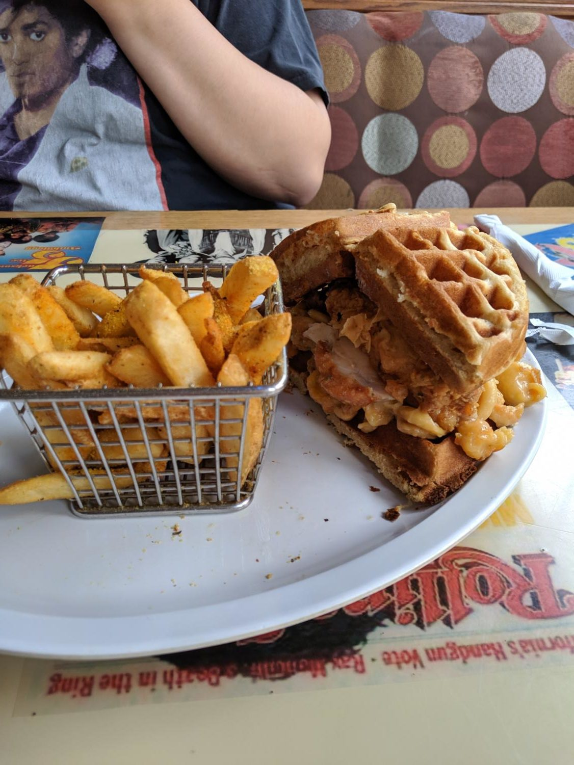 My final stop on my conquest for amazing chicken and waffles was at Cozzy Corner, located on 111 N. Walnut St., Appleton.