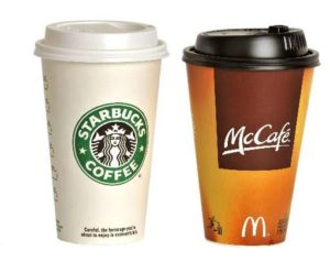 Both McDonald's and Starbucks sell billions of cups of coffee annually, making them the two most successful fast food chains in America.