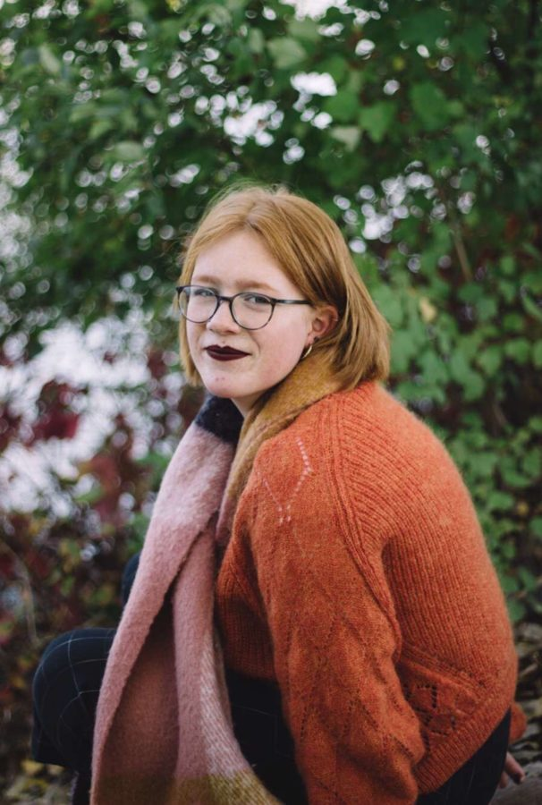 Senior Hannah Farrell's recent project is Preen, her own magazine, comprised of art and writings of local artists.