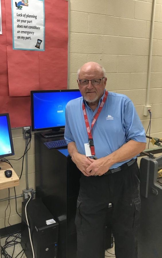 Mr. Michael Thacker often serves as a substitute teacher at NHS.