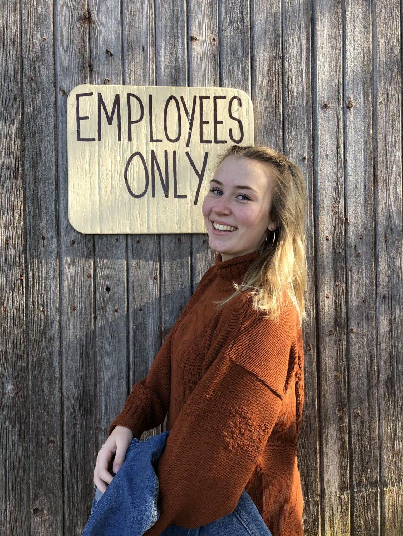 Rhieley Mulder, sales associate at Kohls in Neenah