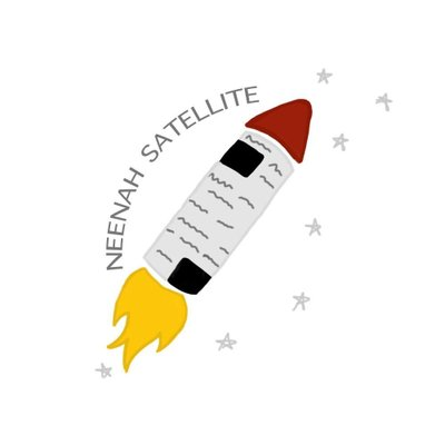 The creative logo for the Satellite student newspaper of Neenah High School.