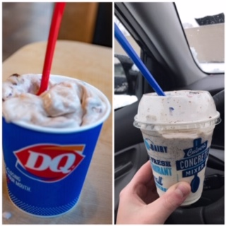 Review:  Dairy Queen Blizzard vs.  Culver's Concrete Mixer