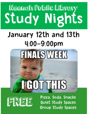 Neenah Public Library Hosts Finals Week Study Nights