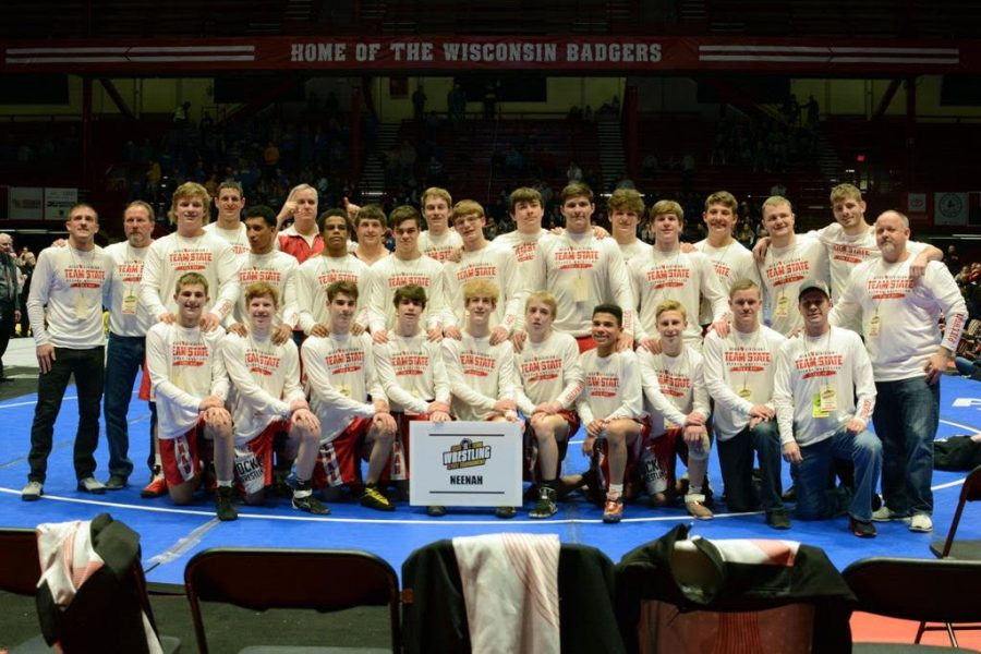 NHS Wrestling Team at the Team State Tournament