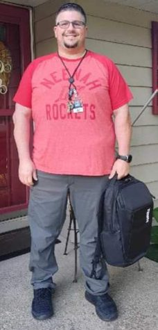 Mr. Christopher Converse prepares for his first day of school, this time as an adult.